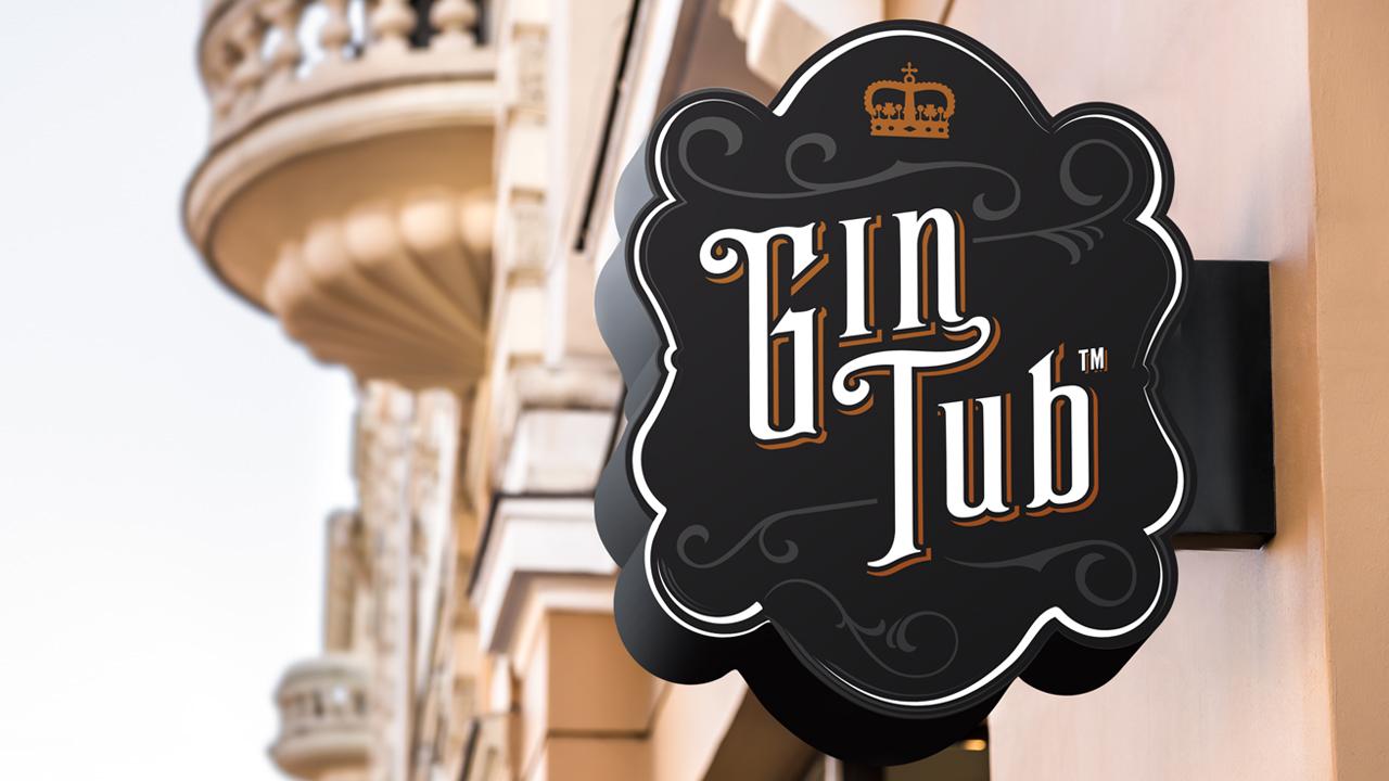 diseñador de logos - Gin Tub logotipo