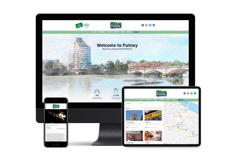 Diseño de web Positive Putney